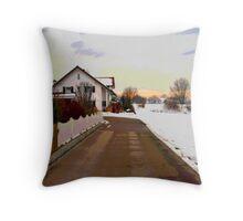 Peaceful Lane Throw Pillow