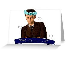 Wibbily Wobbily Timey Wimey Greeting Card