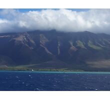Passing by Molokai on the Ferry Photographic Print