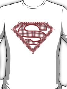 Celtic Superman Logo Black with Red fill T-Shirt