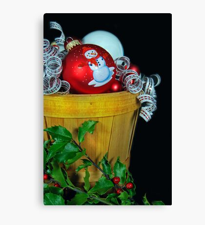 Holly Holiday Canvas Print