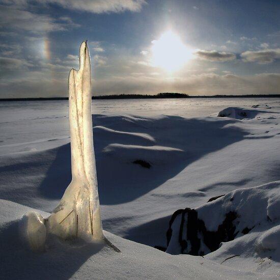 Flat Rock In Winter by Stan Wojtaszek
