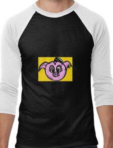 Piggie Penny Pincher Men's Baseball ¾ T-Shirt