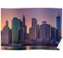 South Street Seaport Sunset Poster