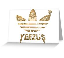 Kanye West - Yeezus Adidas  Greeting Card