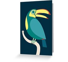 TOUCAN WITH RED NAILS Greeting Card