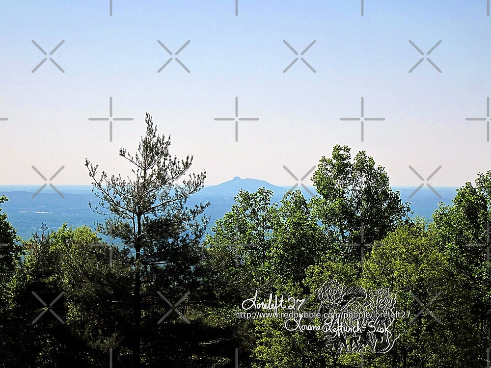 pilot mountain as seen from parkway by LoreLeft27