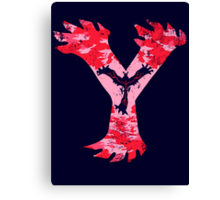 Yveltal Pokemon Y Canvas Print