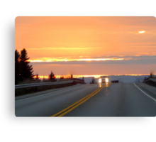 Highway to the sky Canvas Print