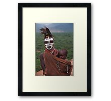 KARO MOTHER AND CHILD - ETHIOPIA Framed Print