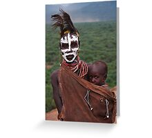 KARO MOTHER AND CHILD - ETHIOPIA Greeting Card