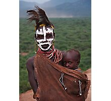 KARO MOTHER AND CHILD - ETHIOPIA Photographic Print