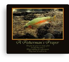 A Fisherman's Prayer Canvas Print