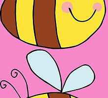 Cute Bumble Bee Drawing  by ironydesigns