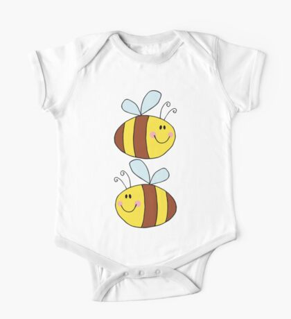 Cute Bumble Bee Drawing  One Piece - Short Sleeve