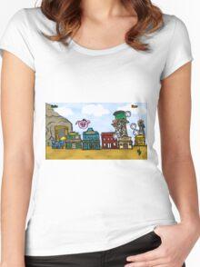 Piggie's Wild West Women's Fitted Scoop T-Shirt