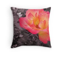 A rose that pops Throw Pillow