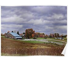 Beautiful fall farmland Poster