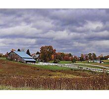 Beautiful fall farmland Photographic Print
