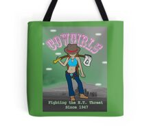 Cowgirls Fighting the E.T. Threat Tote Bag
