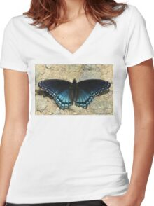 I'll Dazzle You With My Back Side Women's Fitted V-Neck T-Shirt