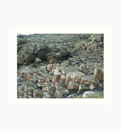My weekend trip to Giant's Causeway in Northern Ireland. Art Print