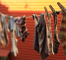 socks drying, boca, buenos aires, argentina by nickaldridge