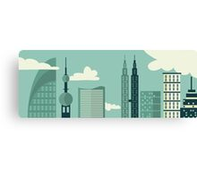 Big City View Canvas Print