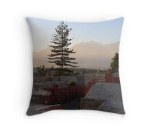 the rooftops of the santa catalina nunnery, arequipa, peru Throw Pillow
