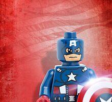 Lego Captain America - Custom Artwork & Photography by CBDigitalGoods