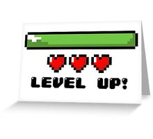Level Up Pixel Art Greeting Card