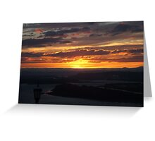 Sunset Along the Columbia Gorge Greeting Card