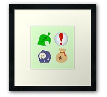 Animal Crossing Icons Framed Print