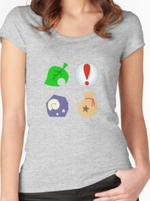 Animal Crossing Icons Women's Fitted Scoop T-Shirt