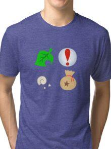 Animal Crossing Icons Tri-blend T-Shirt