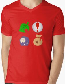 Animal Crossing Icons Mens V-Neck T-Shirt