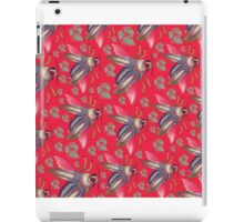 flying moth pattern red iPad Case/Skin