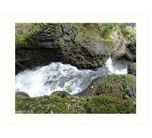 Behind the Waterfall of Love Art Print