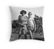 Vintage Cross Dressing Throw Pillow