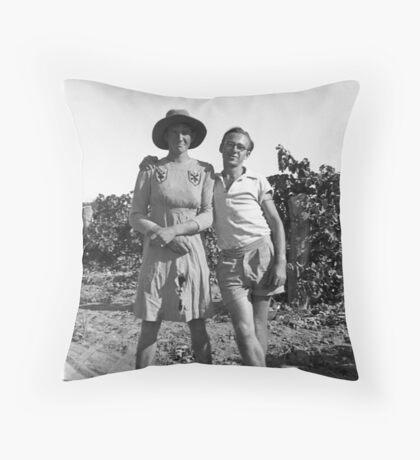 Vintage Cross Dressing Throw Pillow