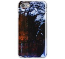 Flowing Colors in a Winter Landscape iPhone Case/Skin