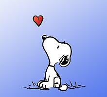 Snoopy in love by SEAandSUN