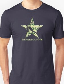 Star with flowers texture T-Shirt