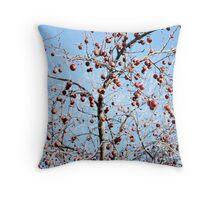 Winter Apple Tree Throw Pillow