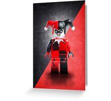 Lego Harley Quinn - Custom Artwork & Photography Greeting Card