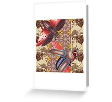 two moth Greeting Card