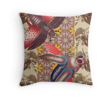 two moth Throw Pillow