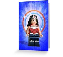 Lego Wonder Woman - Custom Artwork & Photography Greeting Card