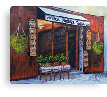 Antica Bottega Toscana - Italian Cafe Canvas Print