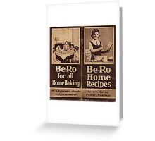 """Be-Ro Home Recipes """"cook book"""" Greeting Card"""